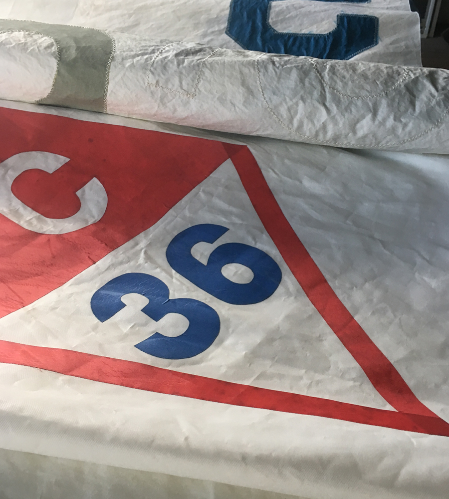 Sail insignia indentifies different boat classses