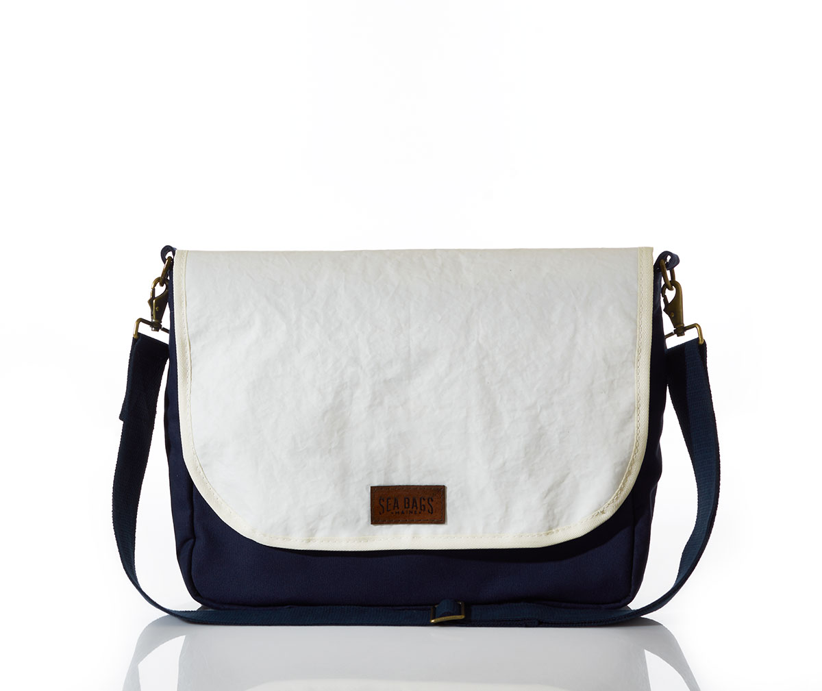 recycled sail cloth messenger bag