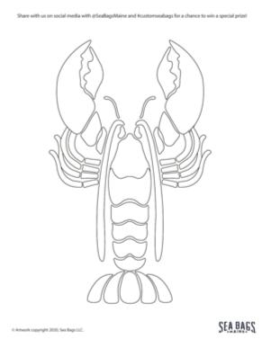 Sea Bags Lobster Drawing