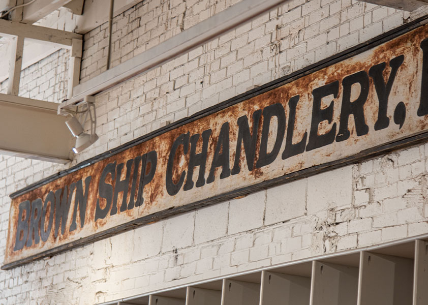 Vintage Sign - Brown Ship Chandlery