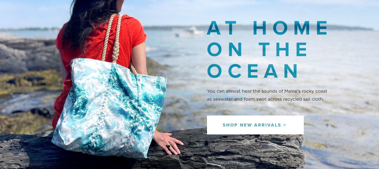 New Surf Tote - At Home on the Ocean - Made from recycled sail cloth