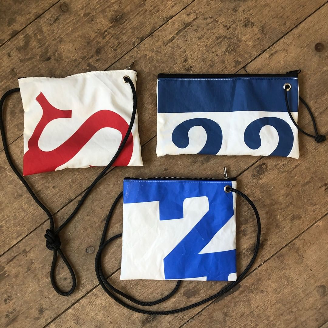 Sea Bags Vintage Insignia Accessories handcrafted from recycled sail cloth