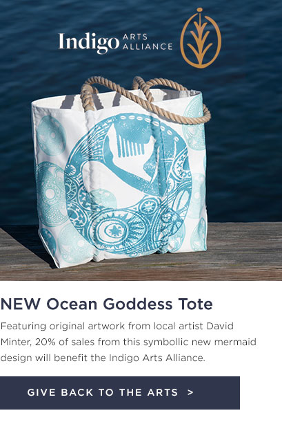 New Indigo Arts Tote - Ocean Goddess