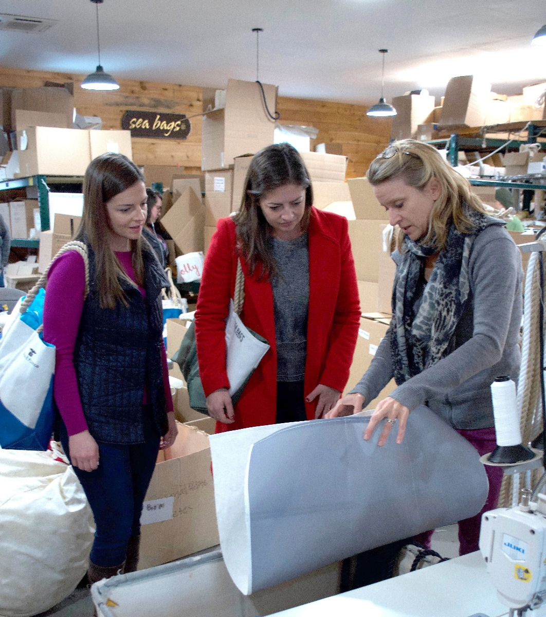 Examining some of Sea Bags' signature recycled sail material