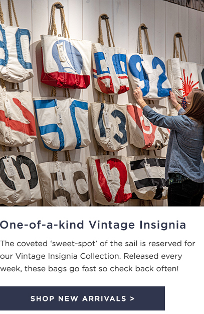 Vintage Insignia Sea Bags made from the best part of the sail
