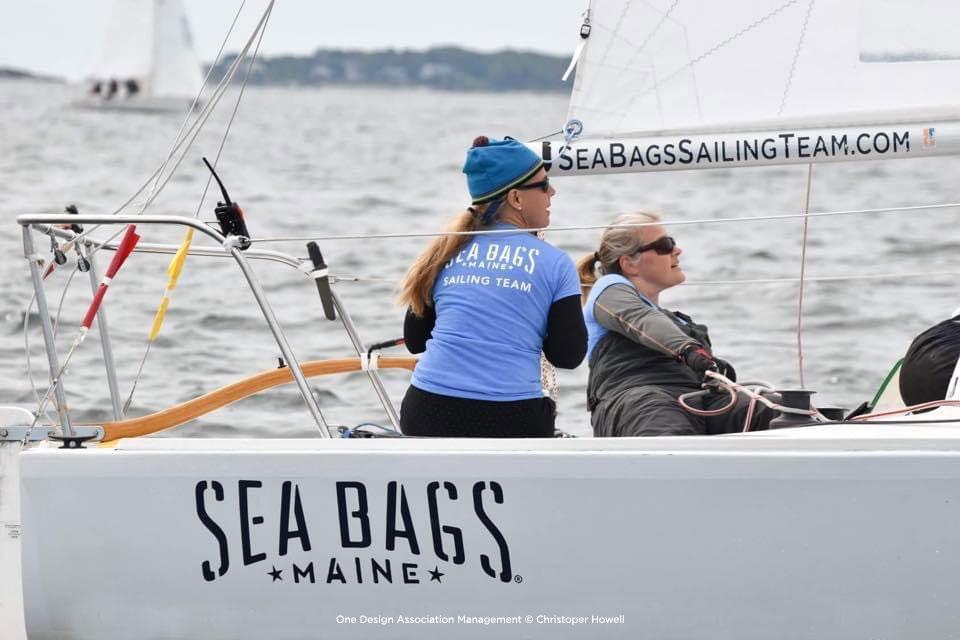 Sea Bags Womens Sailing Team under sail during a race