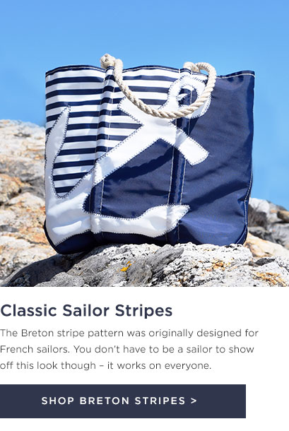 White Anchor Breton Stripes