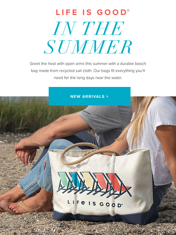 Recycled Sail Cloth Beach Bags from Sea Bags and Life is Good