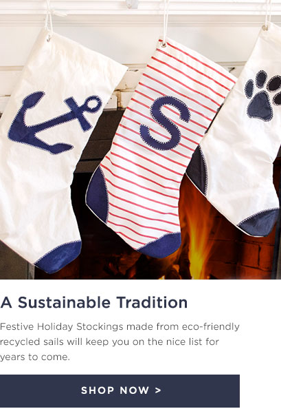 Holiday Stockings Made From Recycled Sails