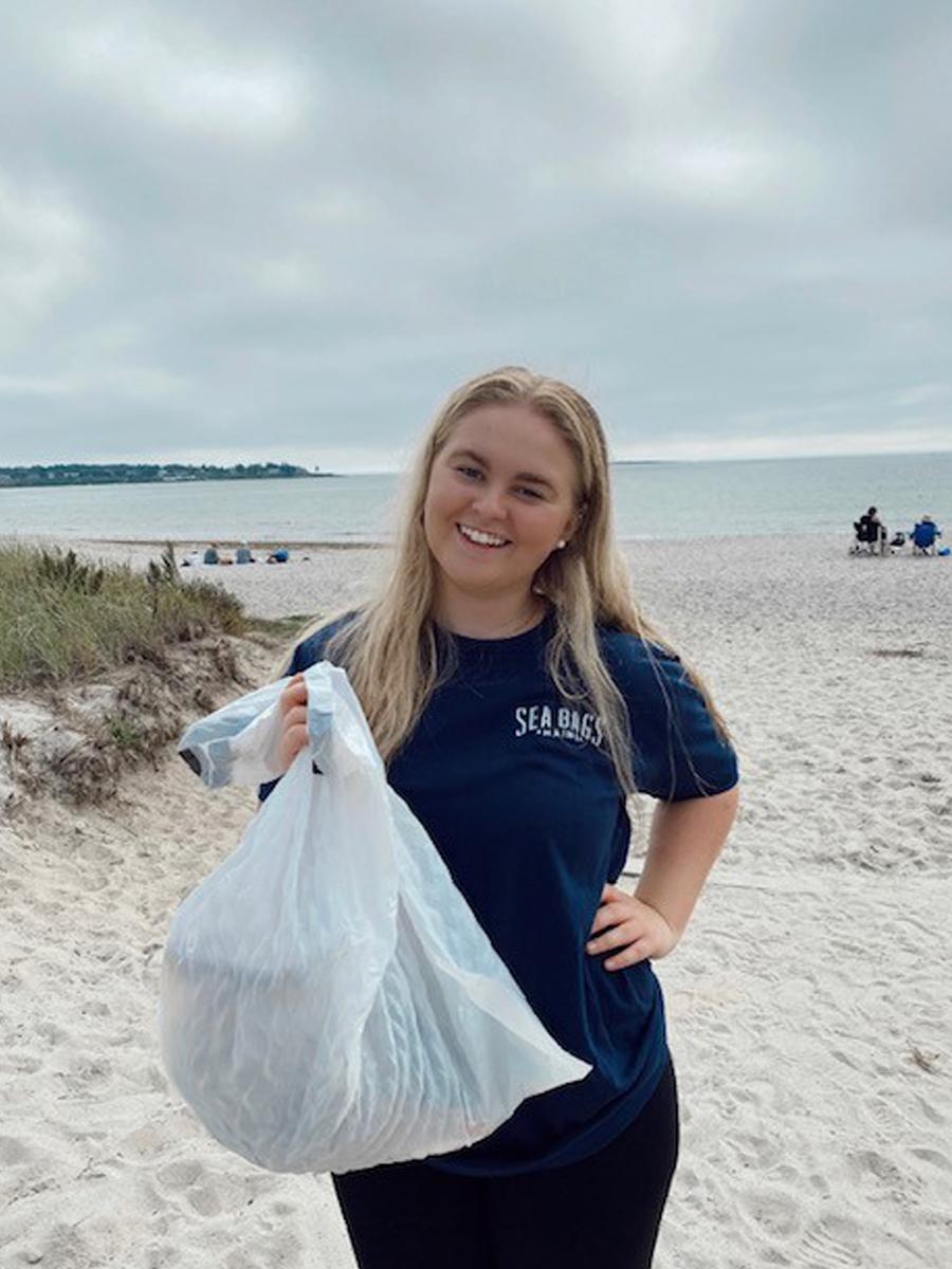Lauren Byrnes in Pine Point Beach in Scarborough, Maine