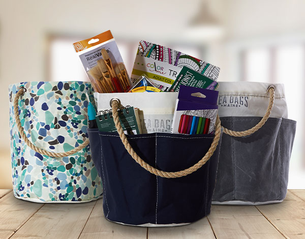 Dorm room essentials made from recycled sails