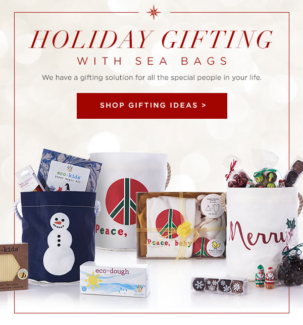 Gifting with Sea Bags - buckets with Made in USA products