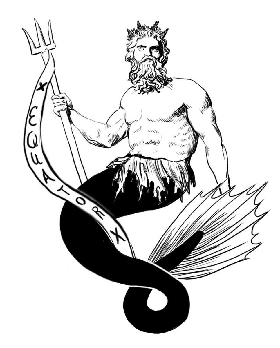 King Neptune illustrated that a sailor had successfully crossed the equator