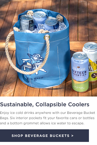 Beverage Bucket Bags - Sustainable, collapsible coolers
