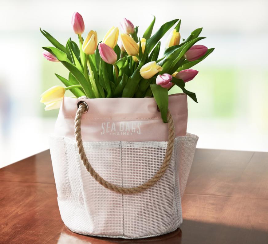 Sea Bags Bucket Bag with Tulips