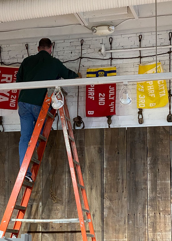 Reclaimed vintage wall hangings