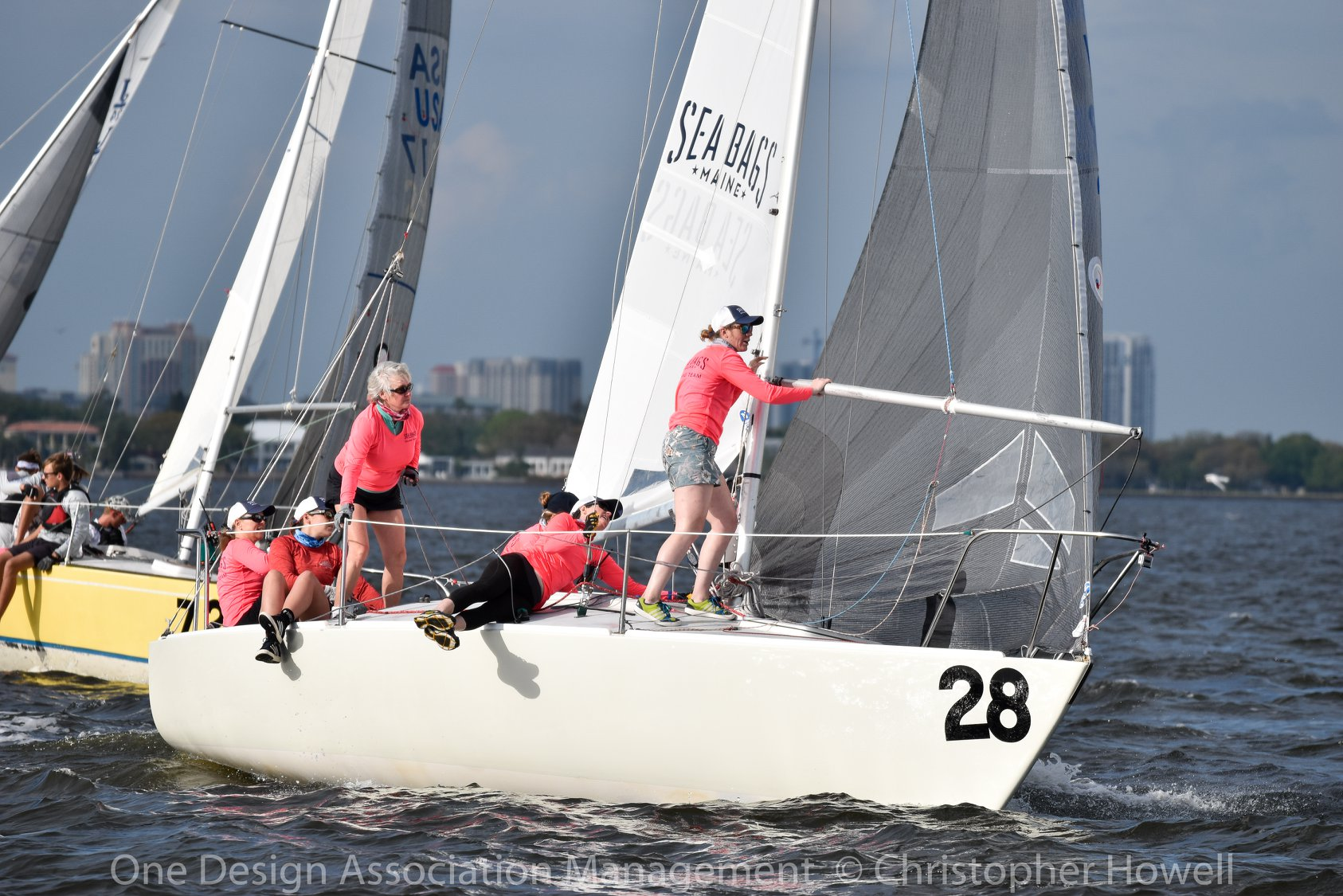 Sea Bags Women's Sailing Team in Action