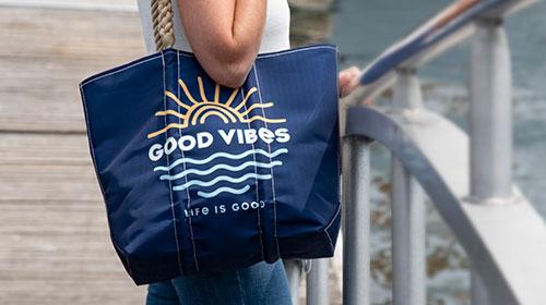 Life is Good + Sea Bags