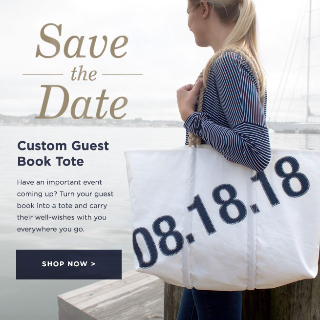 Save the Date - Custom Guest Book Tote