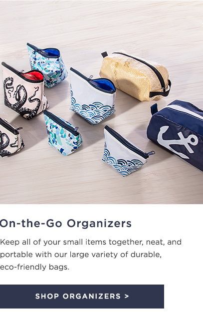 Shop on-the-go organizers