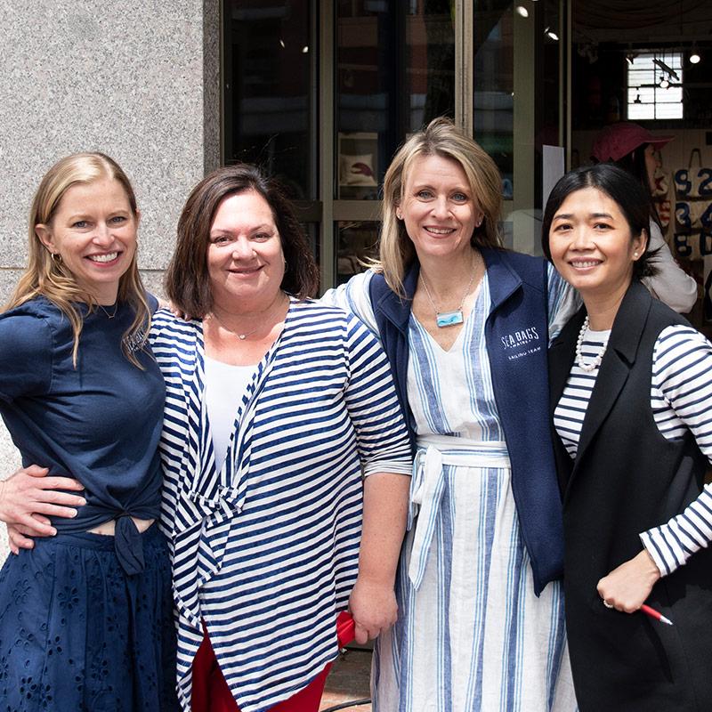 Sea Bags women leadership smiling at grand opening