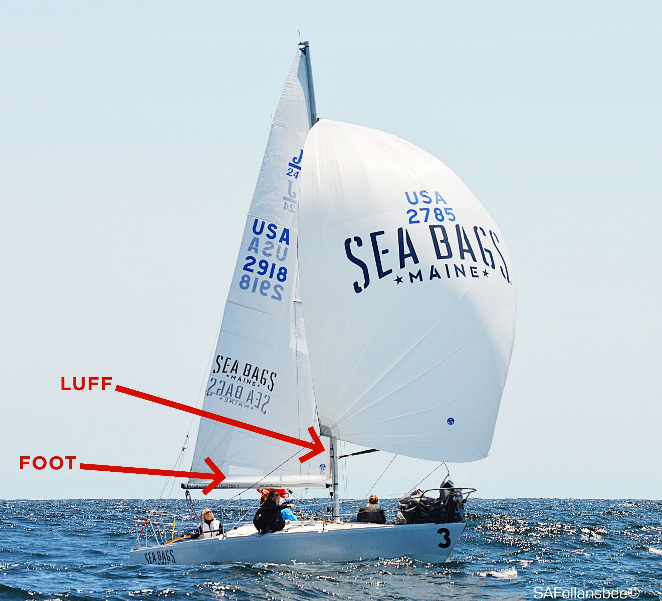 Sea Bags Women's sailing team on the water