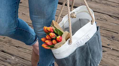 Bucket Bags made from recycled sails