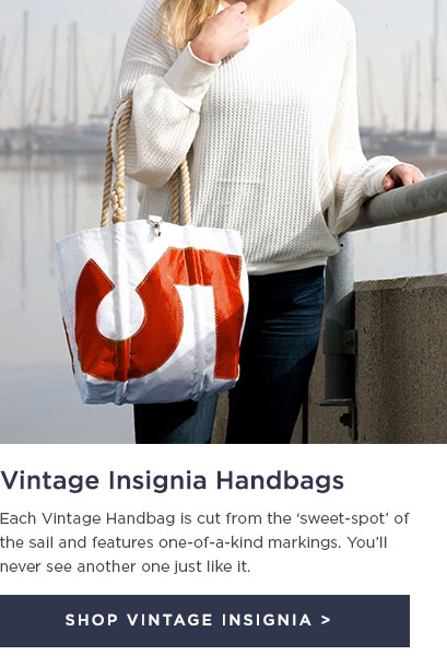 Vintage Insignia Handbag Made From Recycled Sails