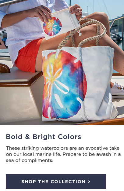 Tie-Dye Sand Dollar tote and wristlet