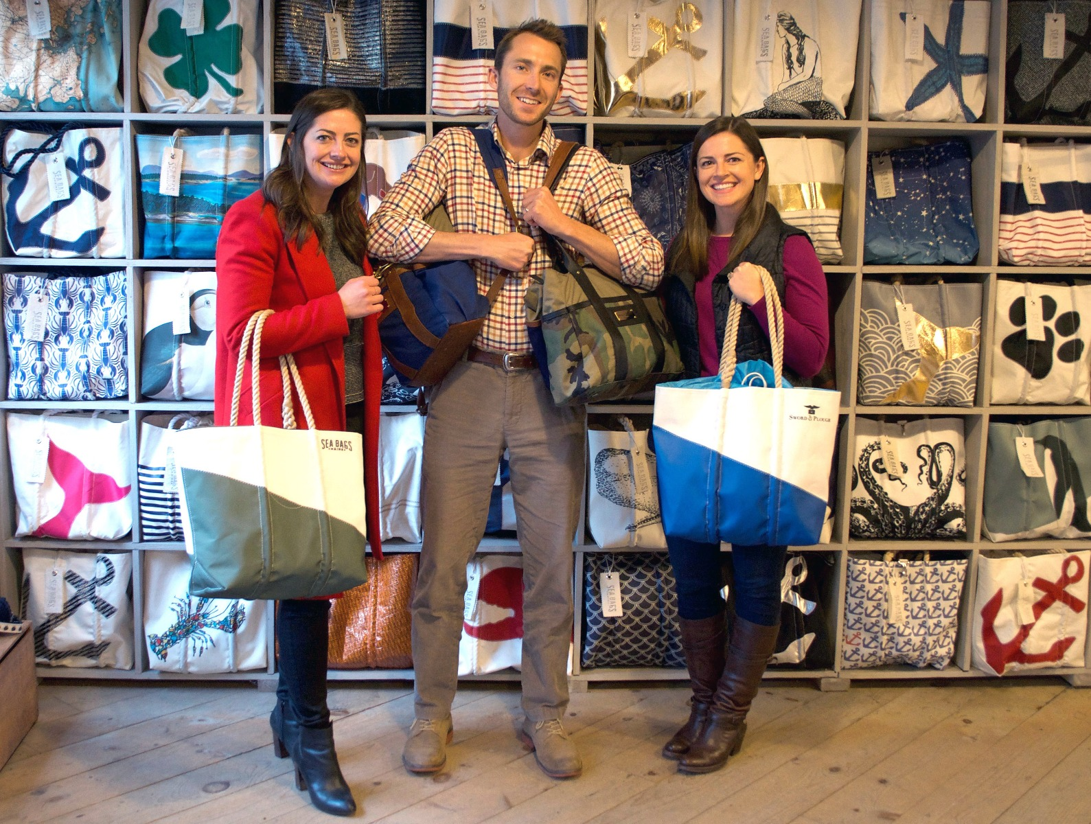 The Sword & Plough team at Sea Bags' flagship retail store in Portland