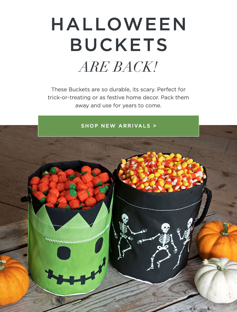 Halloween Bucket Bags filled with Candy