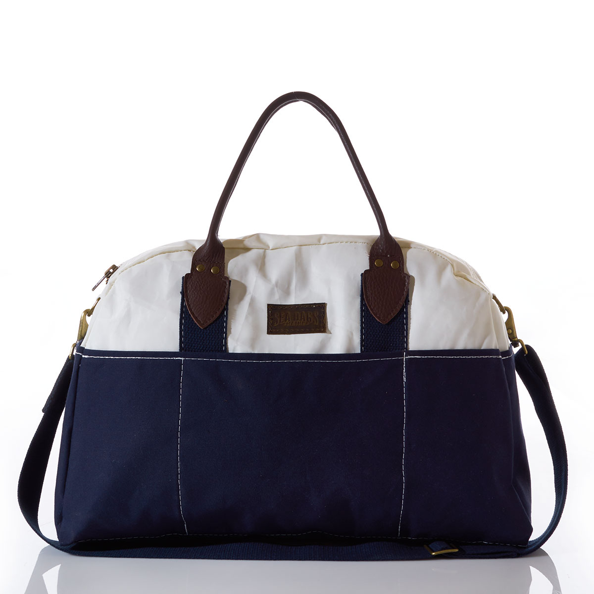 Recycled sail cloth weekend bag with handle