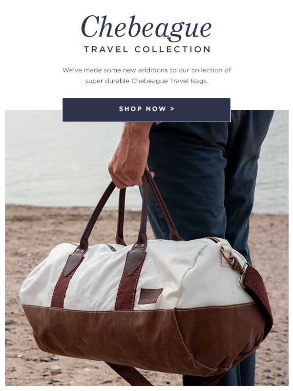 Chebeague Travel Bags made from recycled sails