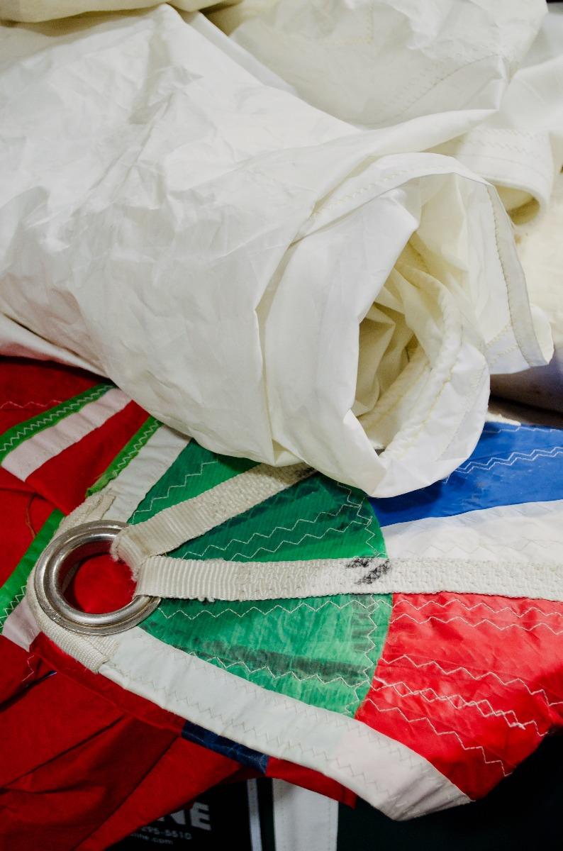 colorful recycled sail cloth