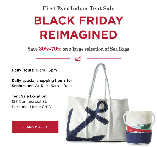 Black Friday Indoor Tent Sale