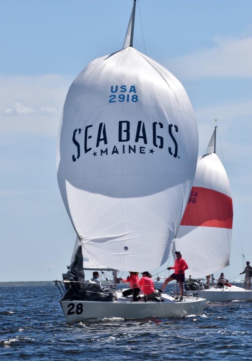 The Sea Bags Women's Sailing Team J/24 Boat