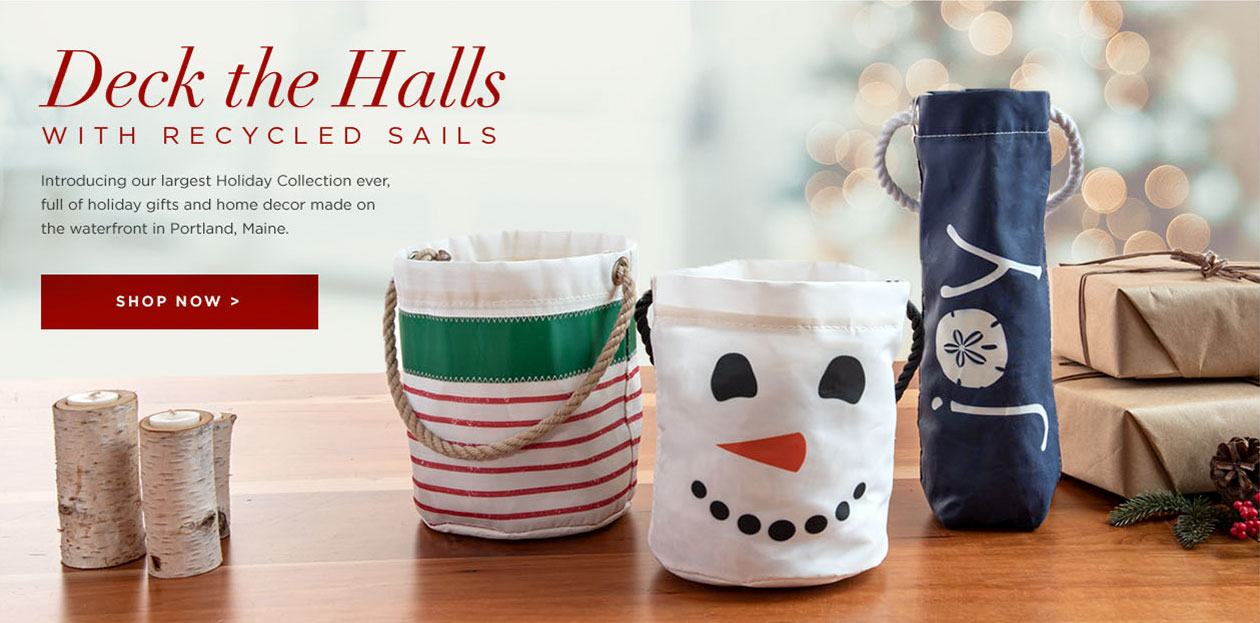 Sea Bags Holiday Collection - sustainable holiday decor made from Recycled Sais