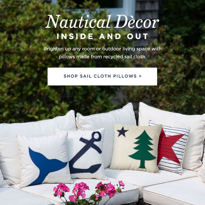 Nautical Recycled Sail Pillows