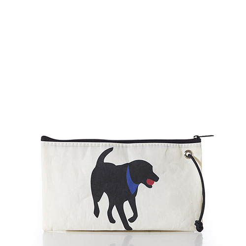 Black Lab Large Wristlet