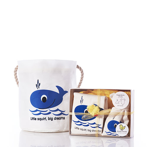 Baby Gift Set Bucket Bag - Whale