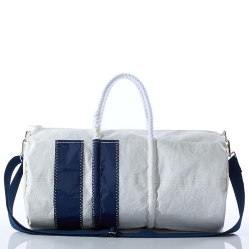 Vertical Striped Duffel Bag