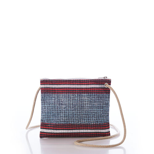 Basketweave Slim Crossbody