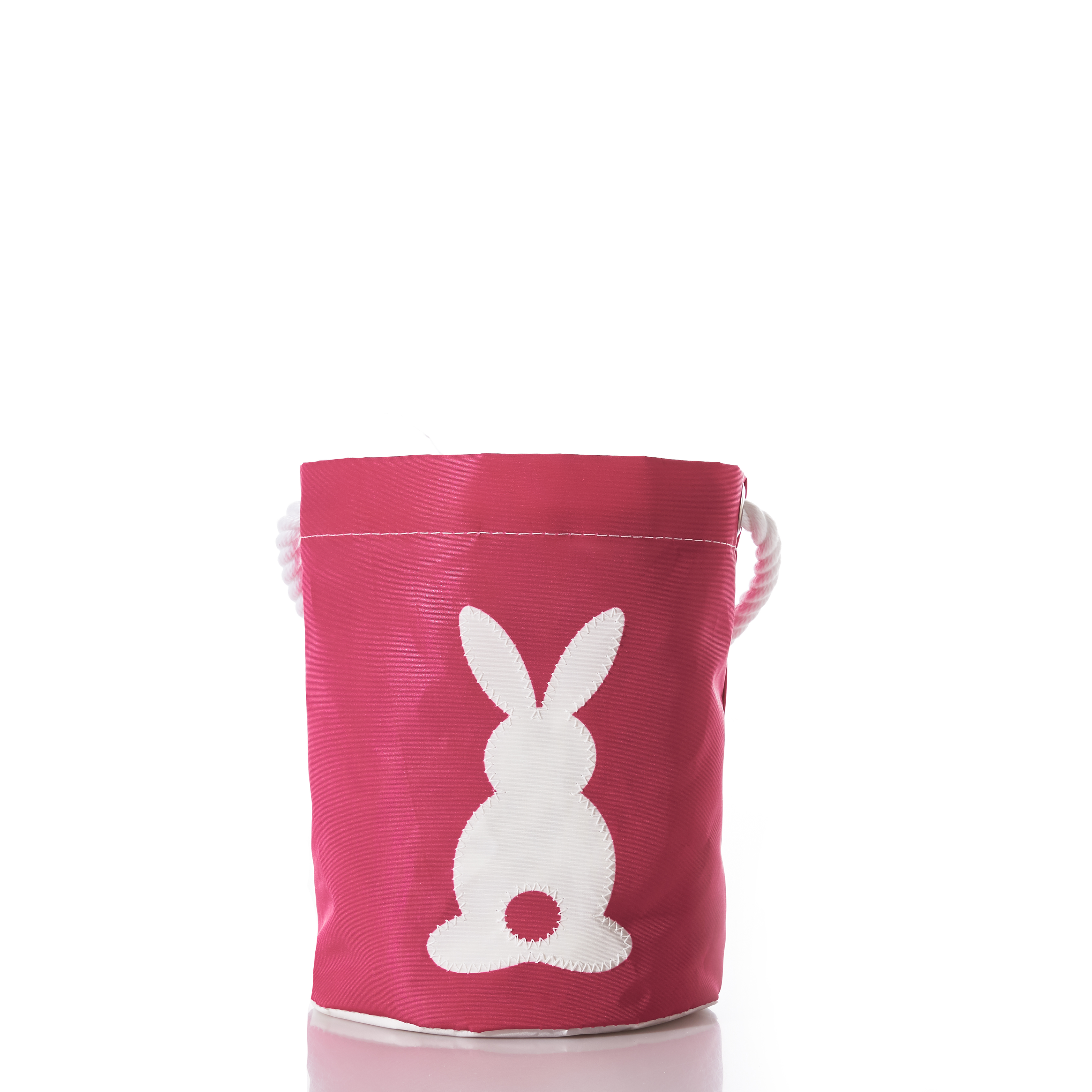 White on Fuchsia Cottontail Bucket Bag