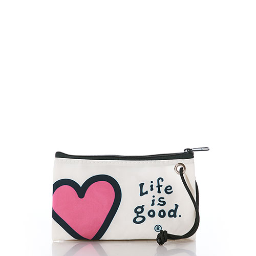 Life is Good Heart Wristlet