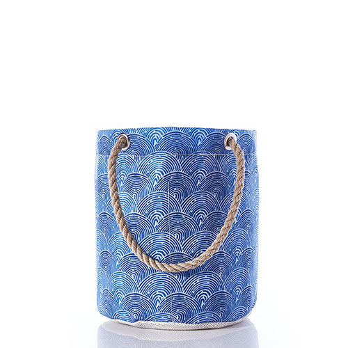 Liquid Blue Fish Scale Beachcomber Bucket Bag