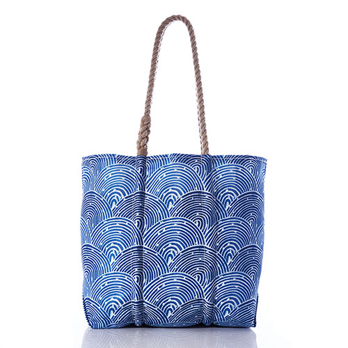 Liquid Blue Fish Scale Tote