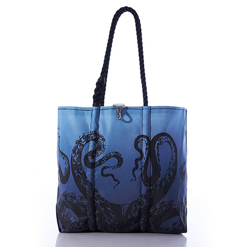 Octopus on Blue Ombre Tote