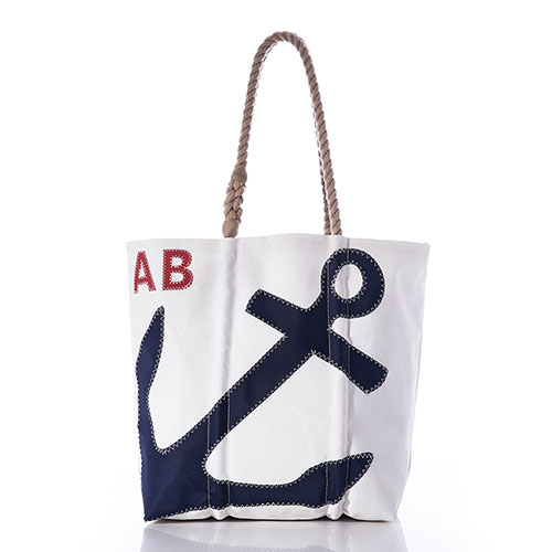Custom Monogram Anchor Tote