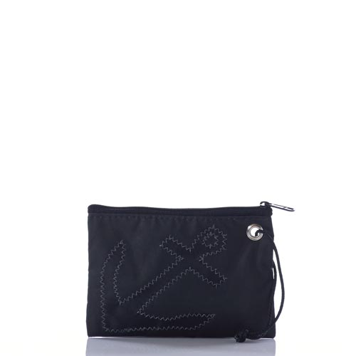 Black-on-Black Anchor Wristlet