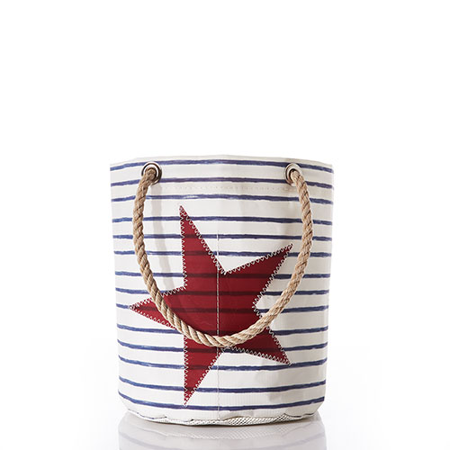 Breton Stripe and Star Beachcomber Bucket